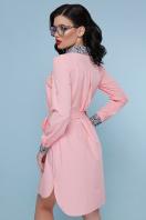 персиковое платье рубашка. Питон платье-рубашка Аврора  д/р. Цвет: персик купить