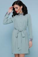 персиковое платье рубашка. Питон платье-рубашка Аврора  д/р. Цвет: фисташка купить