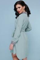 персиковое платье рубашка. Питон платье-рубашка Аврора  д/р. Цвет: фисташка цена