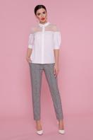 . блуза Рокси 2 д/р. Цвет: белый в интернет-магазине