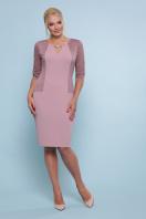 ажурное платье для полных. платье Адина-Б д/р. Цвет: лиловый в интернет-магазине