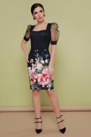 платье с цветочным принтом и коротким рукавом. Букет платье Поля к/р. Цвет: принт купить