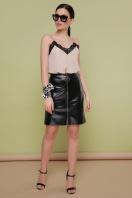 кожаная юбка с молнией. юбка мод. №35. Цвет: черный купить