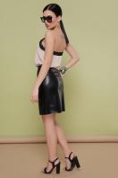 кожаная юбка с молнией. юбка мод. №35. Цвет: черный цена