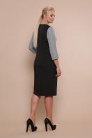 офисное платье батального размера. платье Регина-Б 3/4. Цвет: черный-серая клетка в интернет-магазине