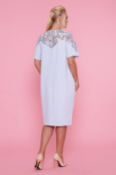 . платье Адель-Б к/р. Цвет: голубой в Украине