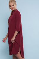 батальное платье рубашечного кроя. платье-рубашка Власта-Б 3/4. Цвет: бордо купить
