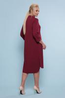 батальное платье рубашечного кроя. платье-рубашка Власта-Б 3/4. Цвет: бордо цена