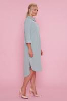 батальное платье рубашечного кроя. платье-рубашка Власта-Б 3/4. Цвет: оливковый купить