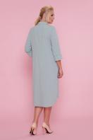 батальное платье рубашечного кроя. платье-рубашка Власта-Б 3/4. Цвет: оливковый цена