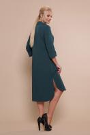 батальное платье рубашечного кроя. платье-рубашка Власта-Б 3/4. Цвет: изумруд в интернет-магазине