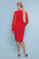батальное красное платье. платье Нелли-Б д/р. Цвет: красный цена