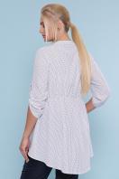 батальная блузка в горошек. блуза Санди-Б 3/4. Цвет: белый-черный м. горох цена