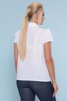 черная блузка батал. блуза Федерика-Б к/р. Цвет: белый цена