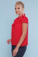 батальная блузка красного цвета. блуза Федерика-Б к/р. Цвет: красный купить