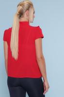 черная блузка батал. блуза Федерика-Б к/р. Цвет: красный цена