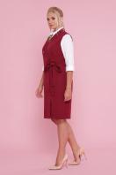 деловое платье больших размеров. платье-жилет Женева-Б б/р. Цвет: бордо купить