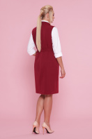 деловое платье больших размеров. платье-жилет Женева-Б б/р. Цвет: бордо цена