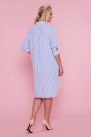 платье-рубашка больших размеров. платье Валентия-Б 3/4. Цвет: голубая полоска цена