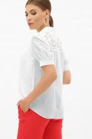 шифоновая блузка для полных женщин. блуза Римма-Б к/р. Цвет: белый цена