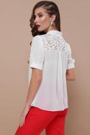 шифоновая блузка для полных женщин. блуза Римма-Б к/р. Цвет: белый в Украине