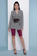 деловой клетчатый пиджак. пиджак Паркер. Цвет: клетка серая купить