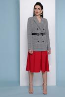 деловой клетчатый пиджак. пиджак Паркер. Цвет: клетка серая цена