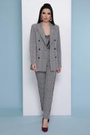 деловой клетчатый пиджак. пиджак Паркер. Цвет: клетка серая в Украине