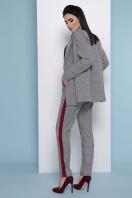 деловой клетчатый пиджак. пиджак Паркер. Цвет: клетка серая недорого