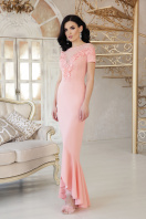 персиковое платье в пол. платье Наоми к/р. Цвет: персик купить