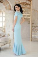 персиковое платье в пол. платье Наоми к/р. Цвет: голубой цена