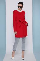 изумрудное пальто без воротника. Пальто П-337-К. Цвет: 3032-красный цена