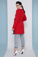изумрудное пальто без воротника. Пальто П-337-К. Цвет: 3032-красный в интернет-магазине
