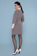 серое пальто без воротника. Пальто П-355. Цвет: 720-серый в интернет-магазине
