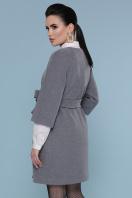 черное пальто с рукавом три четверти. Пальто П-355. Цвет: 071-св. серый цена