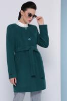 кашемировое пальто оливкового цвета. Пальто П-337-К. Цвет: бутылочный купить