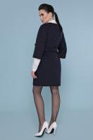 серое пальто без воротника. Пальто П-355. Цвет: 377+5110- т.синий цена