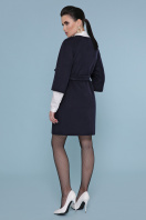 черное пальто с рукавом три четверти. Пальто П-355. Цвет: 377+5110- т.синий цена