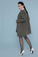 изумрудное пальто без воротника. Пальто П-337-К. Цвет: 7438-оливка купить