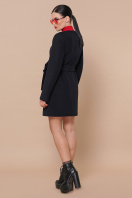 изумрудное пальто без воротника. Пальто П-337-К. Цвет: 5110-т.синий цена