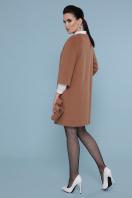черное пальто с рукавом три четверти. Пальто П-355. Цвет: 247- т.бежевый цена