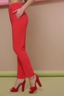узкие красные брюки. брюки Бенжи 2. Цвет: коралл купить