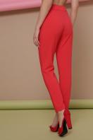 узкие красные брюки. брюки Бенжи 2. Цвет: коралл цена
