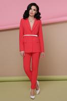 узкие красные брюки. брюки Бенжи 2. Цвет: коралл в интернет-магазине