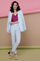 узкие красные брюки. брюки Бенжи 2. Цвет: голубой в интернет-магазине