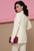 голубой женский пиджак. пиджак Патрик. Цвет: ваниль в интернет-магазине