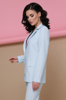 голубой женский пиджак. пиджак Патрик. Цвет: голубой купить