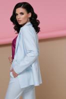 голубой женский пиджак. пиджак Патрик. Цвет: голубой цена
