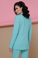 голубой женский пиджак. пиджак Патрик. Цвет: мята цена