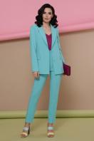 голубой женский пиджак. пиджак Патрик. Цвет: мята в интернет-магазине